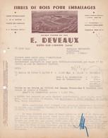 42 BOEN Sur Lignon COURRIER 1949 Fibres De Bois Pour Emballages  DEVEAUX  X31  LOIRE - France