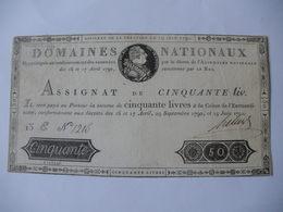 TRES RARE ASSIGNAT 50 LIVRES EFFIGIE ROYALE 19/05/1791 LAFAURIE 138 - Assignats & Mandats Territoriaux