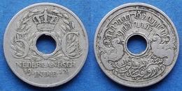 NETHERLANDS EAST INDIES - 5 Cents 1913 KM# 313 Wihelmina - Edelweiss Coins - Dutch East Indies