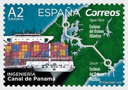 Spain (2019) - Set -  /   Ships - Bateaux - Canal De Panama - Maps - Architecture - Schiffe