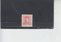 CINA ORIENTALE  1949 -  Yvert  57  - Mao - Western-China 1949-50