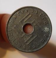GERMANY. MILITARY COINAGE. 10 PFENNIG 1940 A. ZINC. REICHSKREDITKASSEN. WWII. ALLEMAGNE. - [ 4] 1933-1945 : Troisième Reich