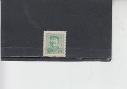 CINA ORIENTALE  1949 -  Yvert  58  - Mao - Western-China 1949-50