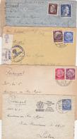 Alemania- Portugal -  8 Envelopes  Circulados Com Vários Selos E Carimbos - Alemania