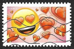 FRANCE   2018 -  YT 1564  -  Emotions  - Coeur Rouge - Oblitéré - Adhésifs (autocollants)