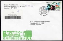 2007-FDC-86 CUBA FDC 2007. REGISTERED COVER TO SPAIN. 45 ANIV UJC. ERNESTO CHE GUEVARA. - FDC