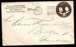 A5898) US Ganzsachenumschlag Columbus 10 Cents Mittleres Format - Enteros Postales