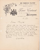 01 BELLEGARDE Sur Valserine COURRIER 1926 AU PANIER FLEURI Fleurs Henri CURTENAT X31 - France