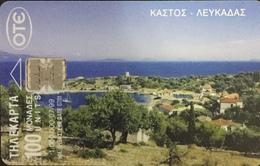 Paco \ GRECIA \ Chip OTE X0773 A \ Kastos, Lefkada \ Usata - Greece