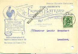 Ets. François Battard à Ville-lez-Pommeroeul - Fabrique De Chicorée, Denrées Coloniales, Vins, Bières, Liqueurs, Etc... - 1900 – 1949