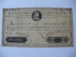 TRES RARE ASSIGNAT 60 LIVRES EFFIGIE ROYALE 19/05/1791 LAFAURIE 139 - Assignats