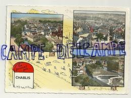 France. Yonne. En Passant Par ... Chablis. Mosaïque (multivues). Borne, Escargots, Grenouilles, ... - Chablis