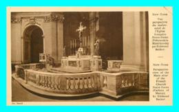 A726 / 217  NEW YORK Vue Perspective Du Maître Autel De L'église Française - NY - New York