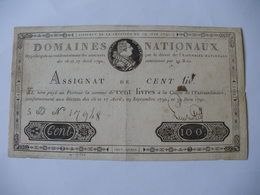 TRES RARE ASSIGNAT 100 LIVRES EFFIGIE ROYALE 19/05/1791 LAFAURIE 140 - Assignats