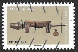 FRANCE   2018 -  YT 1516  -  Chien   - Afrique - Oblitéré - Adhésifs (autocollants)