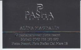 Romania, Visiting Card, Carte De Visite, Men's Wear Clothes - Visiting Cards