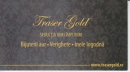 Romania, Visiting Card, Carte De Visite, Gold Jewellery - Visiting Cards