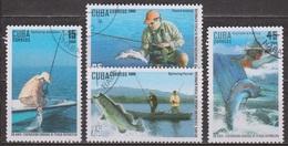 Pèche Sportive - CUBA - Au Lancer En Mer, Ren Bateau, à La Mouche, En Rivière - N° 4763-4765-4766-4767 - 2009 - Cuba