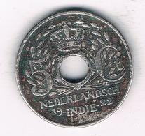 5 CENTS 1922 NEDERLANDS INDIE /1450/ - [ 4] Colonies