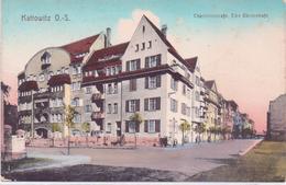 Seltene ALTE  AK   KATTOWITZ / Schlesien / Polen    - Charlottenstrasse, Ecke Dürrerstraße - Ca. 1910 Gedruckt - Schlesien
