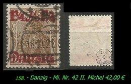Mi. Nr. 42 II In Gebraucht - - Danzig