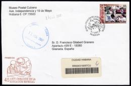2007-FDC-95 CUBA FDC 2007. REGISTERED COVER TO SPAIN. 45 ANIV EDUCACION ESPECIAL, SINDROME DE DOWN. - FDC