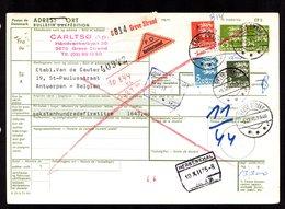 DANEMARK  Bulletin Expédition Colis Postal Greve Strand CONTRE REMBOURSEMENT Pour Belgique   2 Scan - Colis Postaux