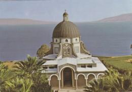MT. OF THE BEATITUDES AND LAKE GALILEE,ISRAEL  POSTCARD - Israele