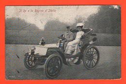 Auto Cars Fiat 12 Hp Reali D'Italia V.Emanuele III° E Regina Elena Di Savoia First Auto In Italy Cpa 1905 - Cartoline
