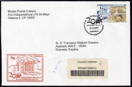 2007-FDC-100 CUBA FDC 2007. REGISTERED COVER TO SPAIN. MAQUETA DE LA HABANA. - FDC