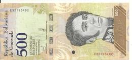 VENEZUELA 500 BOLIVARES 2018 UNC P New - Venezuela
