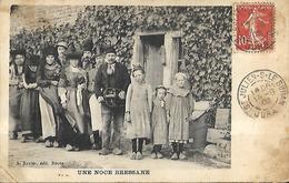 Une Noce Bressane  CPA 1908 - Personnages