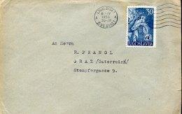 42904 Jugoslavia, Cover Circuled 1953 From Ljubljana To  Austria - 1945-1992 République Fédérative Populaire De Yougoslavie
