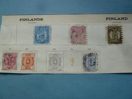 Timbres Anciens De FINLANDE - 1856-1917 Administration Russe