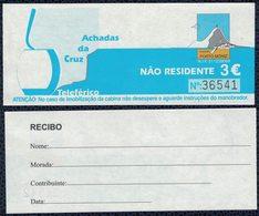 Ticket Billet Teleférico Téléphérique Achadas Da Cruz PORTO MONIZ MADEIRA Madère - Tickets D'entrée