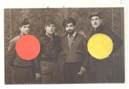 Photo Carte Studio MONTANER à LA GARRIGA - Guerre Civile D'Espagne ?? - Miliciens Phalange Communiste ??? (B247) - Guerres - Autres