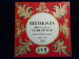"""Beethoven: Sonate N°14, Op.27 """"Clair De Lune""""-Michel Queval/ 45t GEM, EGEX 4557 - Classique"""
