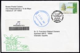 2007-FDC-106 CUBA FDC 2007. REGISTERED COVER TO SPAIN. REPOBLACION FORESTAL, TREE, CAMPAÑA PLANTEMOS EL PLANETA. - FDC