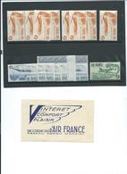FRANCE : Lot De Vignettes AIR FRANCE Neuves ** + Une Couverture De Carnet Vide. - Timbres