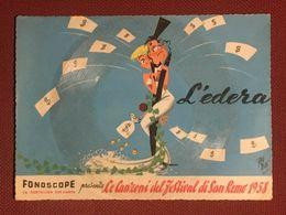 Cartolina Musicale Fonoscope Sanremo 1958 Disco 01 - Collezioni