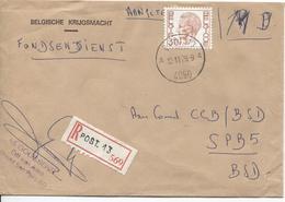 2817/ TP 1649 Baudouin Elström S/L.recommandée Belgische Krijgsmacht C.Post.13 12/11/79 V.SPB 5 BSD - Marcophilie