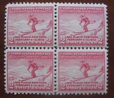 Usa - JJ.O. Lake Placid 1932 - 311 - B/4 - Nuevo - Winter 1932: Lake Placid