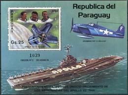 Paraguay 1983. Michel Bl.#390 MNH/Luxe. Apollo VII. Ship. Aircraft. (B24) - Paraguay
