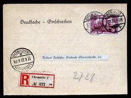 A5899) DR Infla R-Drucksache-Karte Chemnitz 17.08.22 EF Mi.115e - Deutschland