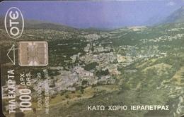 Paco \ GRECIA \ Chip OTE X0793 A \ Kato Chorio Ierapetra \ Usata - Greece