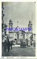 107690 URUGUAY MONTEVIDEO LA CATEDRAL CATHEDRAL & TRAMWAY TRANVIA POSTAL POSTCARD - Uruguay
