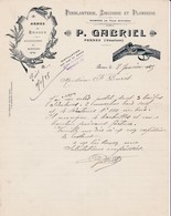 84 PERNES Les Fontaines  COURRIER 1925 Ferblanterie Zinguerie P. GABRIEL  Armes De Chasse  X31 Vaucluse - France