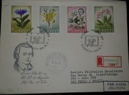 O) 1967 HUNGARY, BOTANIST-CHEMIST AND PHYSICIAN-PAL KITAIBEL , FLOWERS CARPATHIAN-DENTARIA-CENTAUREA-STERNBERGIA, REGIST - FDC