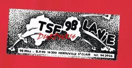1 Autocollant  Radio TSF 98 HEROUVILLE ST CLAIR - Autocollants