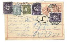 Entier Postal De Pforzheim Pour La Chauds De Fonds De 1922 - Taxe Suisse - Allemagne